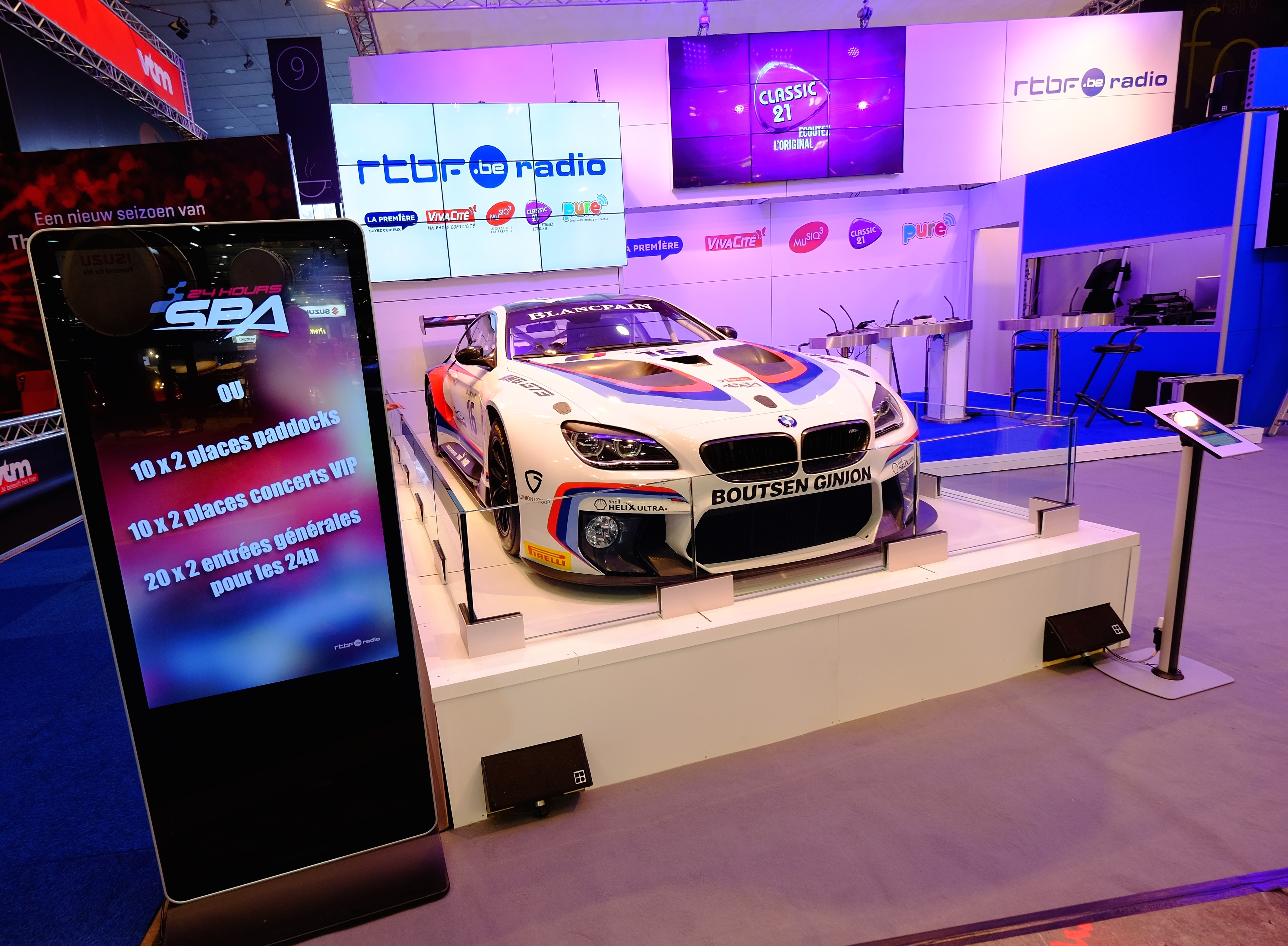 New bmw m6 gt3 at european motor show in brussels total for A total new you salon