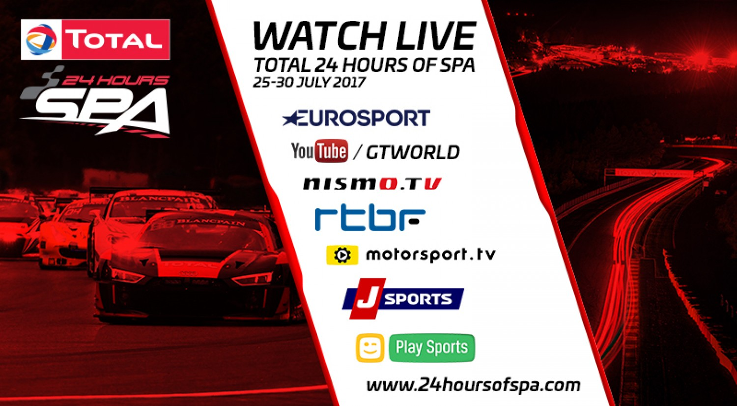 Immerse yourself in the Total 24 Hours of Spa