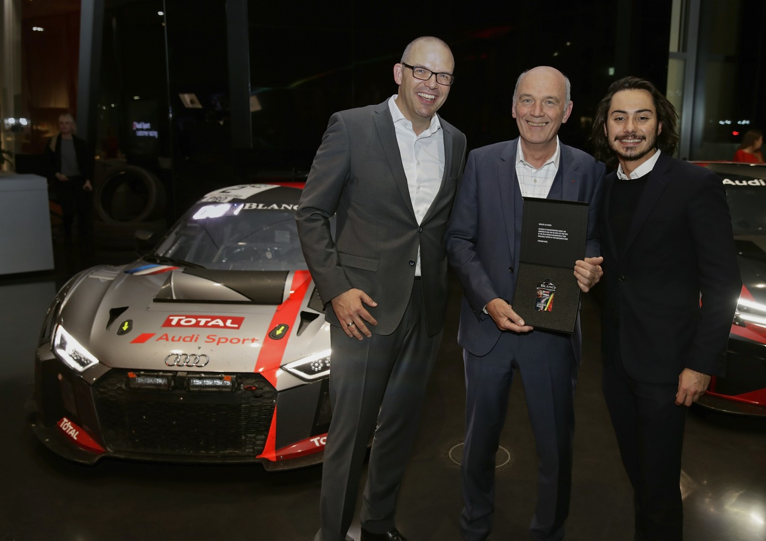 Audi's longtime head of sport Dr. Wolfgang Ullrich receives a lifelong ticket for the Total 24 Hours of Spa