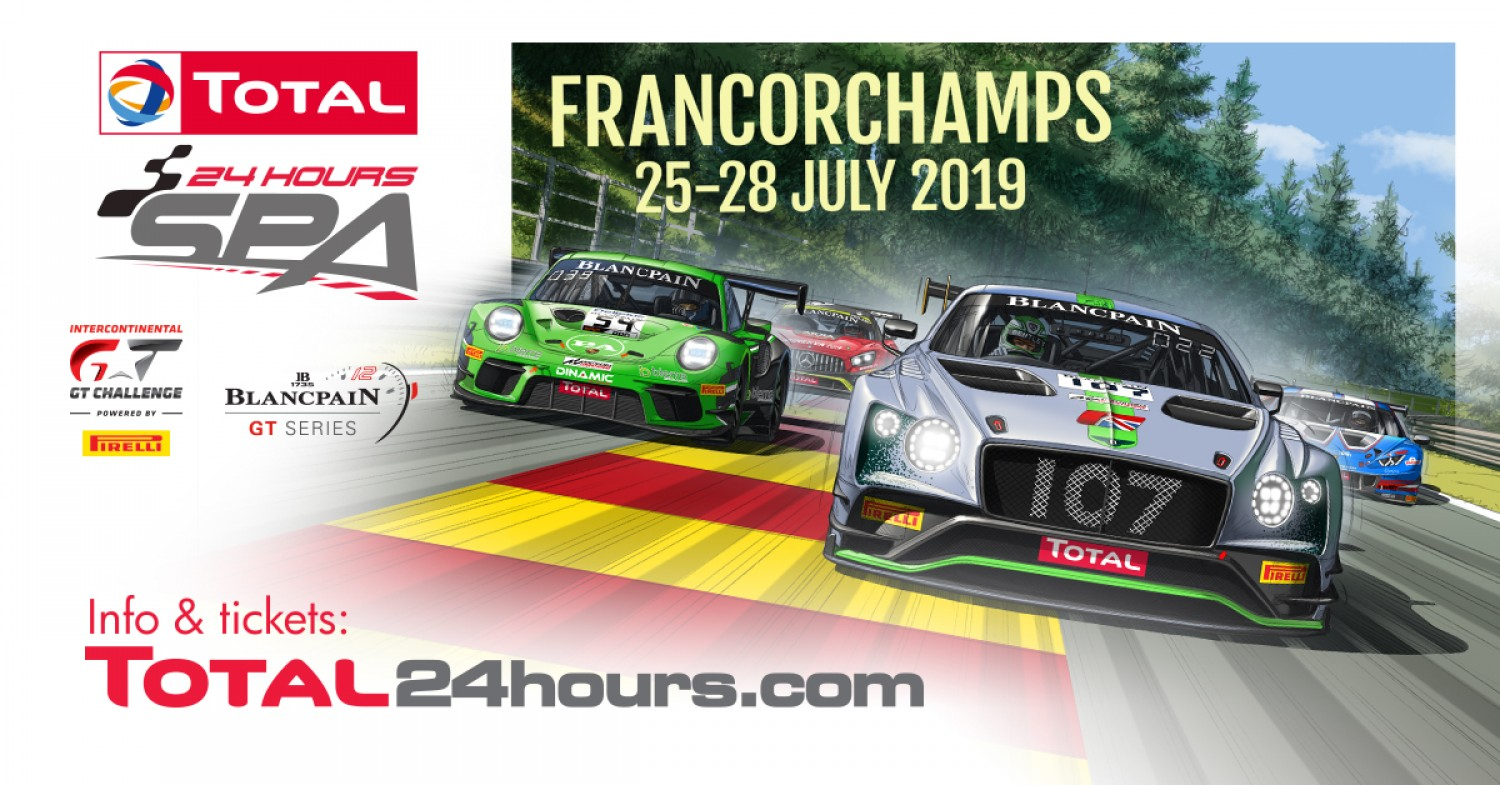 Total 24 Hours of Spa delivers record-breaking 72-car entry list to confirm status as world's premier GT race