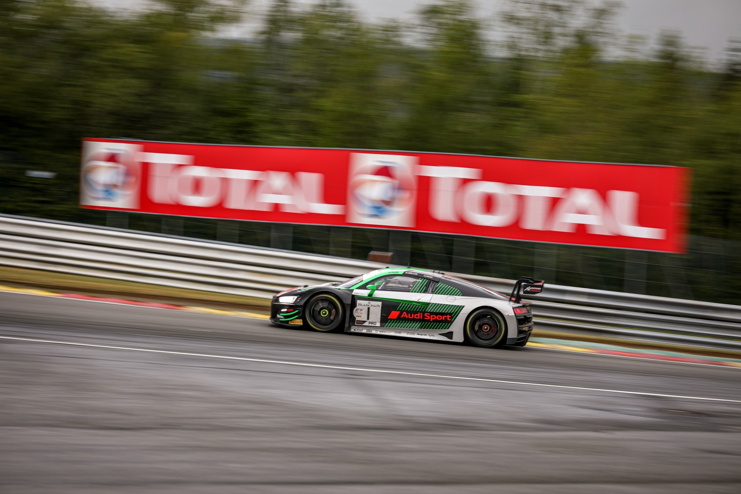 Audi Sport Team WRT leads Total 24 Hours of Spa as four-hour mark approaches