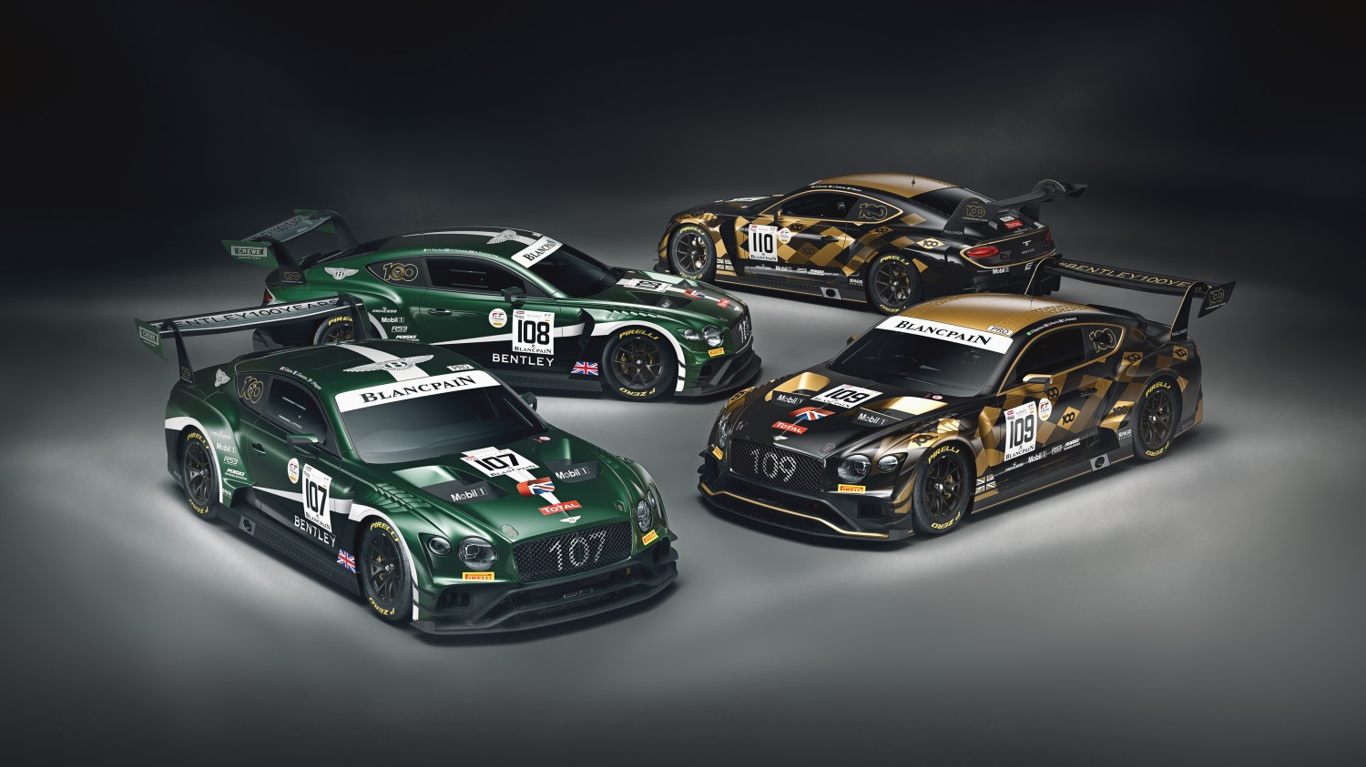 Bentley reveals centenary liveries for Total 24 Hours of Spa