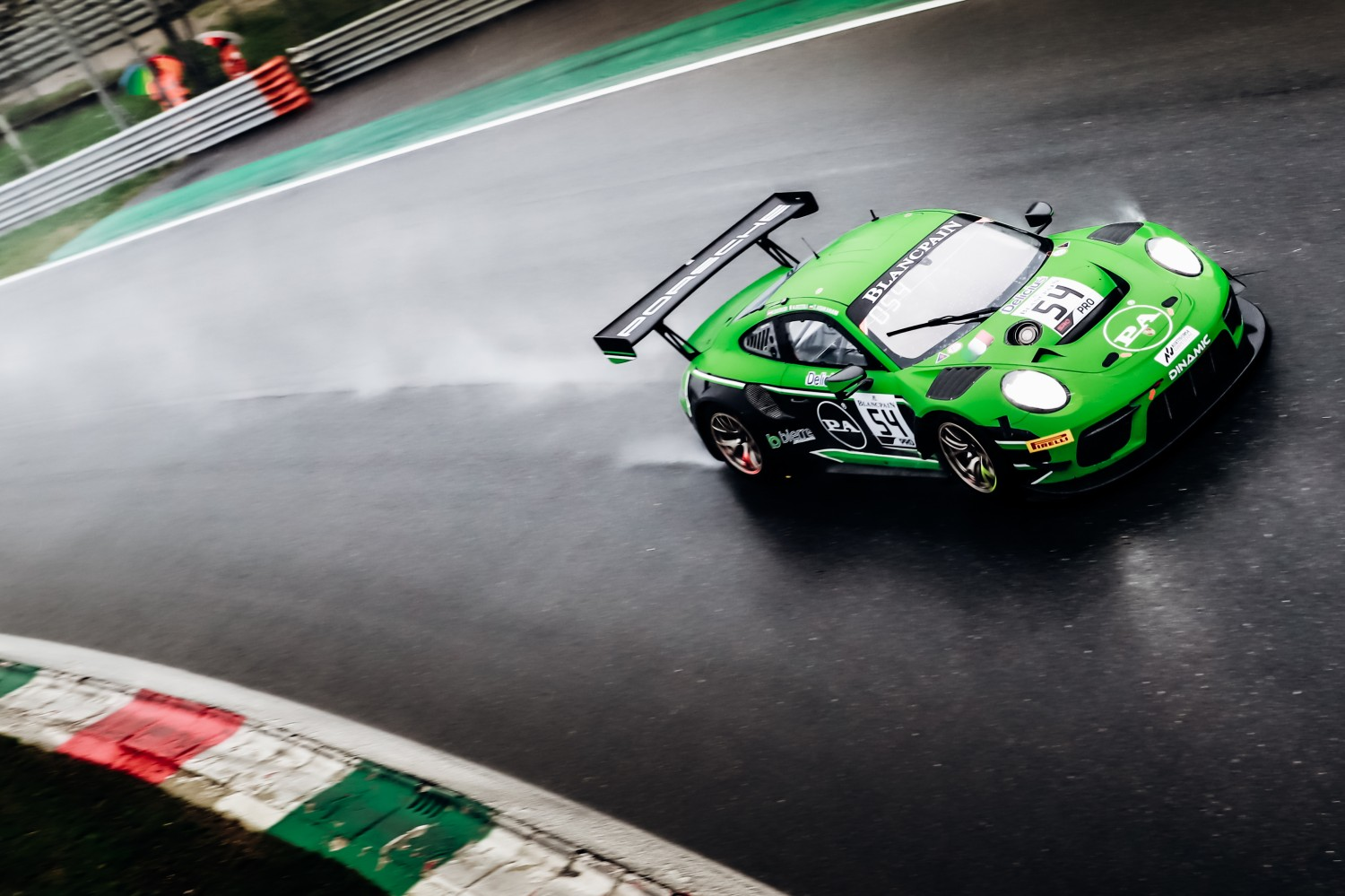 Dinamic Motorsport Porsche takes emotional Blancpain GT Series victory in dramatic 2019 season-opener at Monza