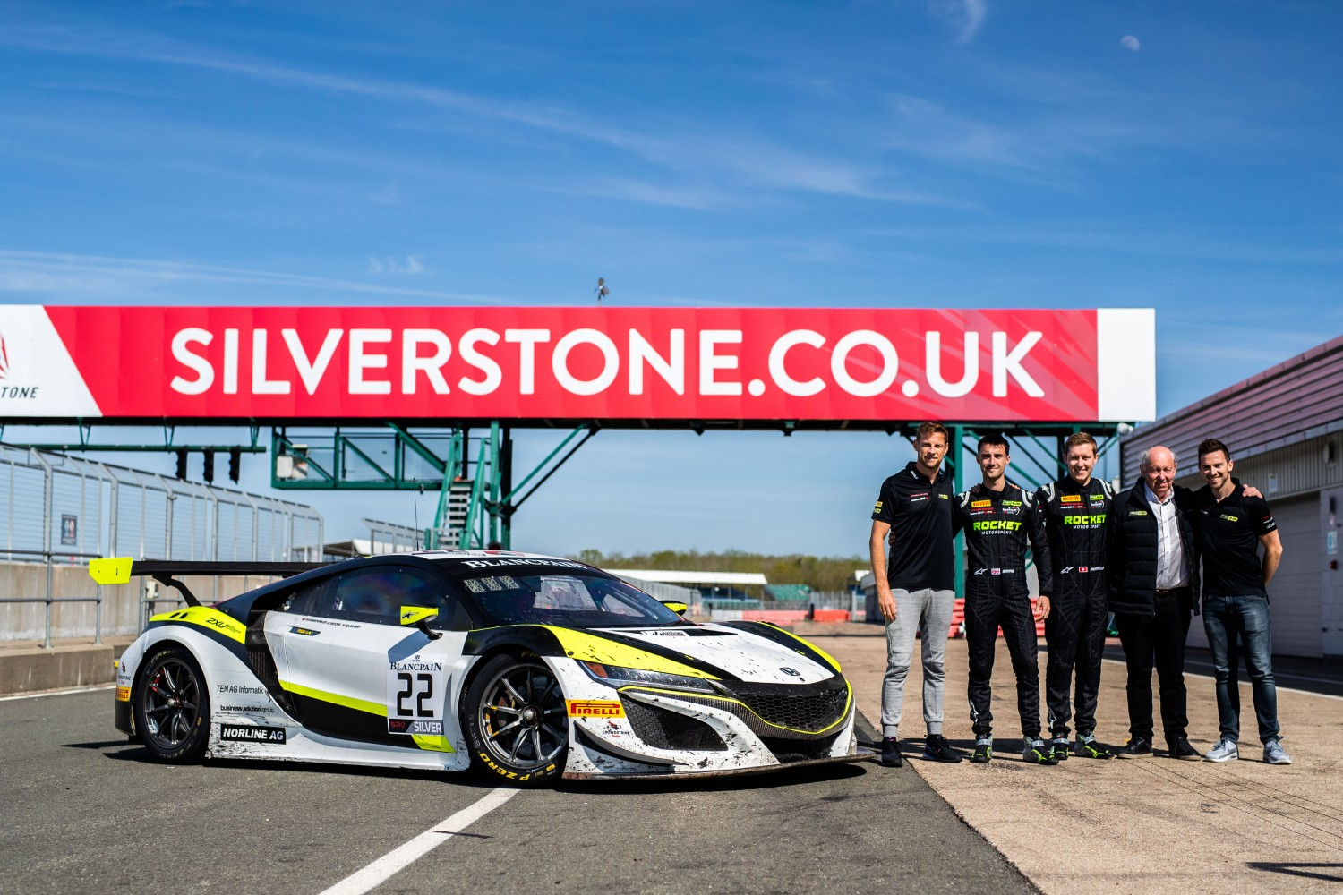 JENSON BUTTON JOINS HIS GT3 TEAM AT SILVERSTONE FOLLOWING BLANCPAIN GT SERIES WEEKEND