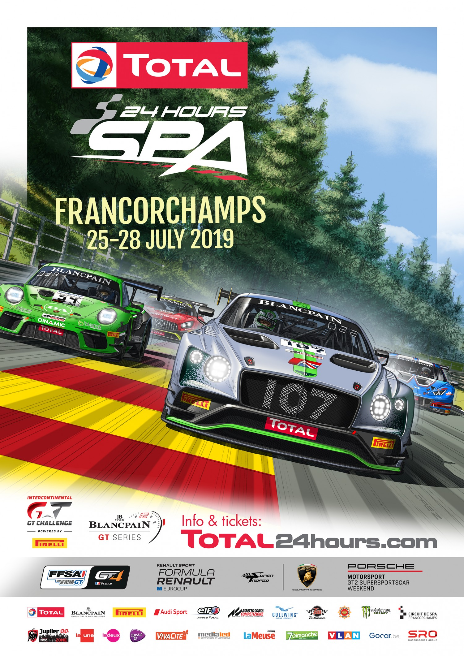 2019 Total 24 Hours of Spa kicks off with vibrant official poster