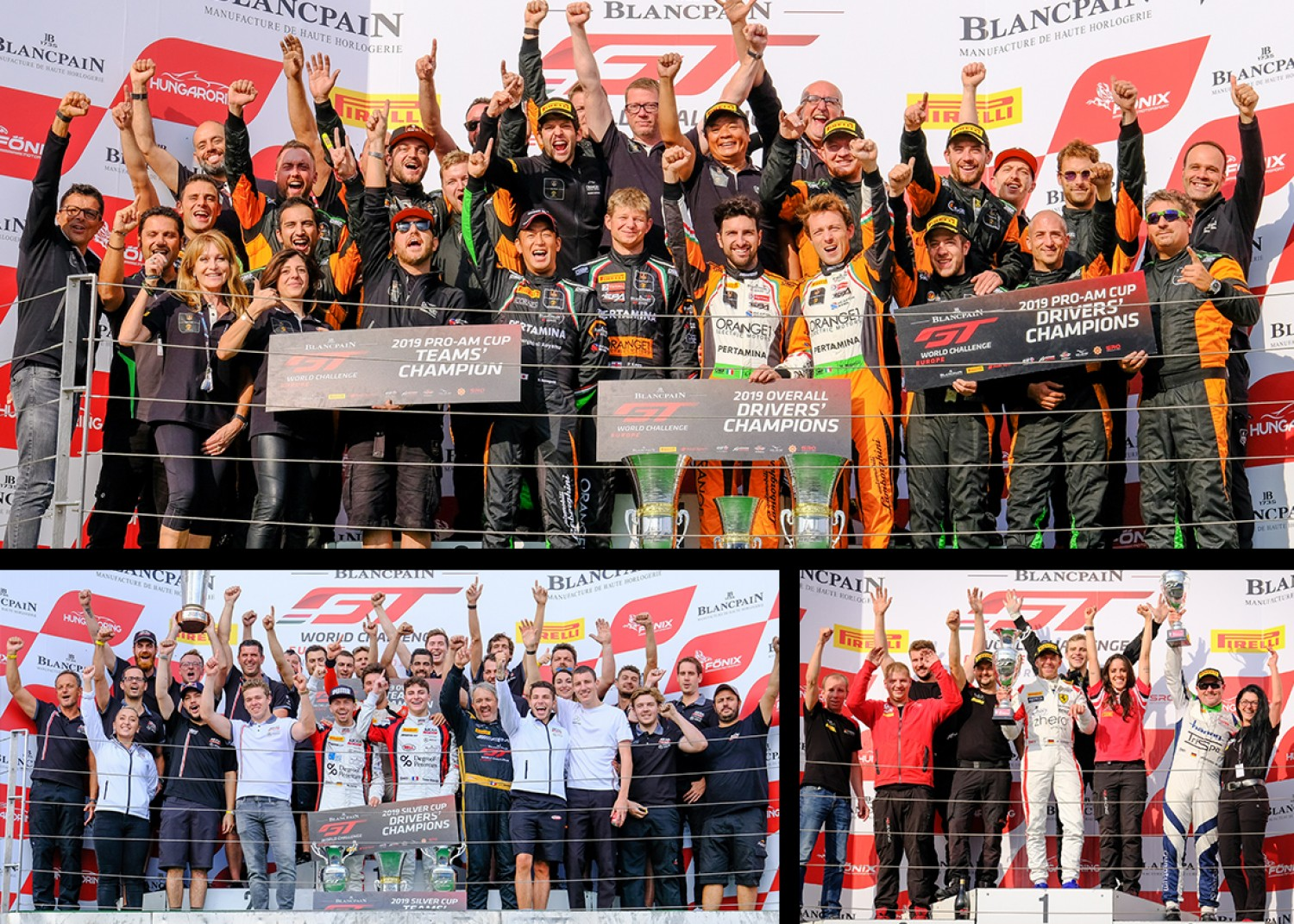 Orange1 FFF Racing Lamborghini duo Caldarelli and Mapelli crowned Blancpain GT World Challenge Europe champions at Hungaroring