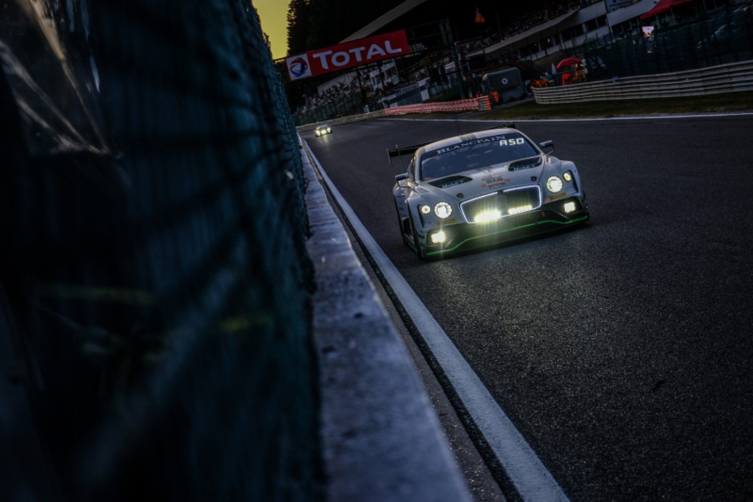 Montaplast by Land Audi continues to lead as #8 Bentley hits major problems at Spa
