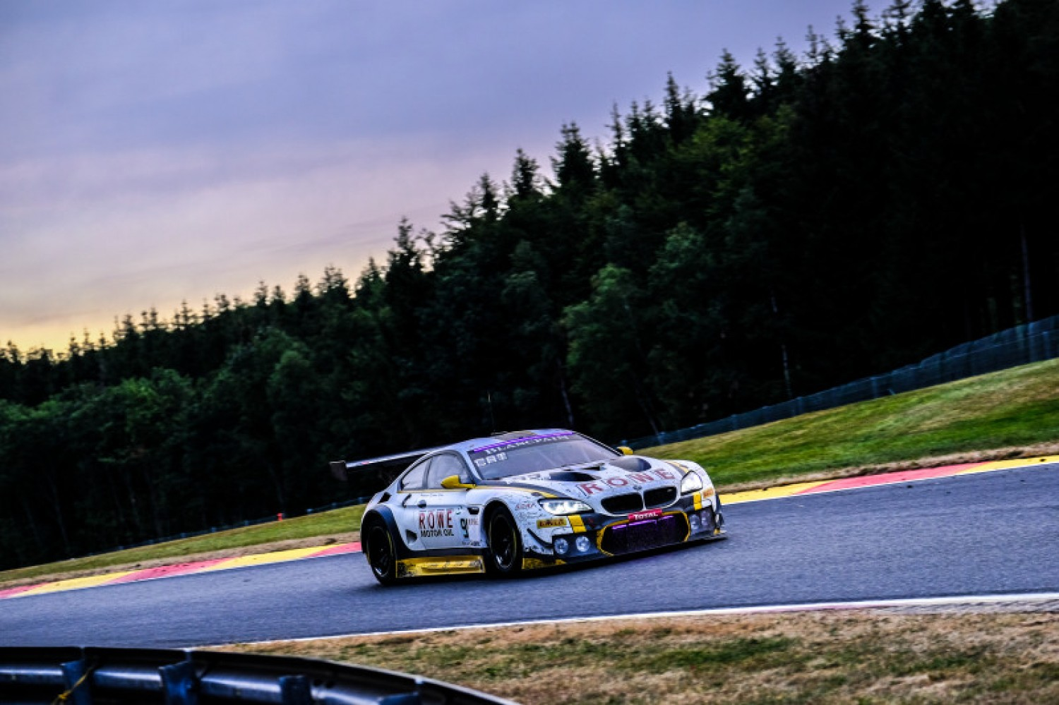 ROWE Racing BMW leads with seven hours to go