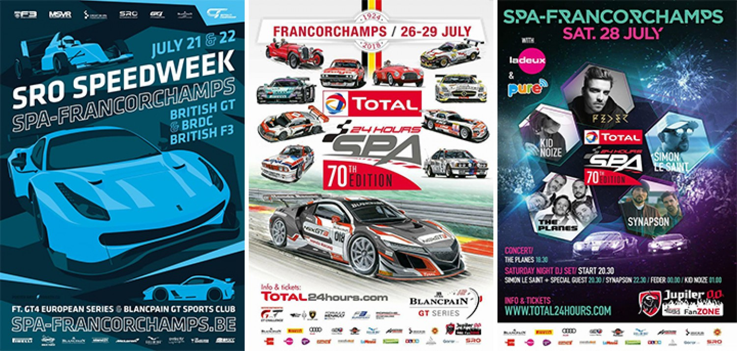 SRO Speedweek and Total 24 Hours of Spa promise 10 days of action and entertainment