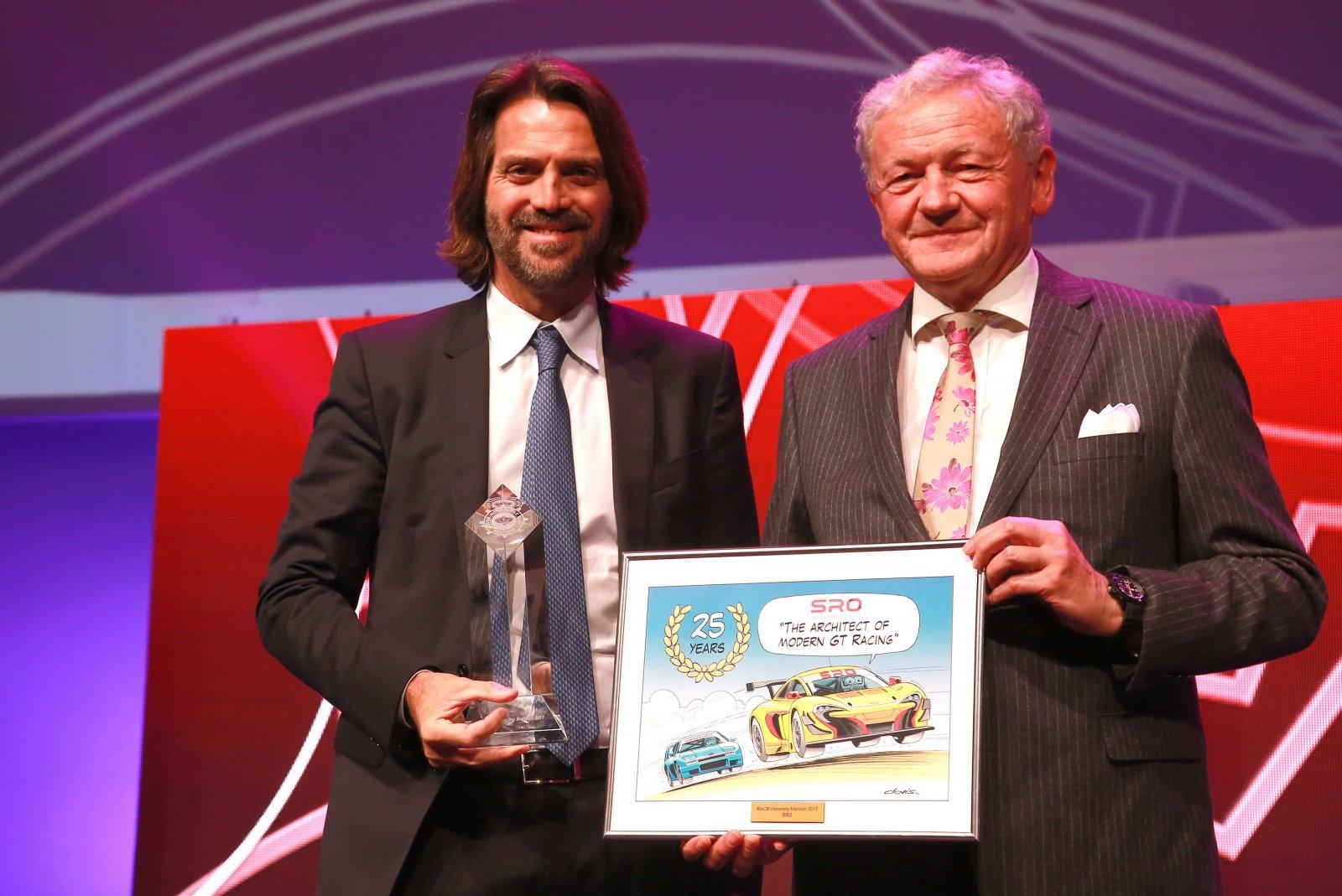 SRO Motorsports Group given Honorary Award at RACB Awards
