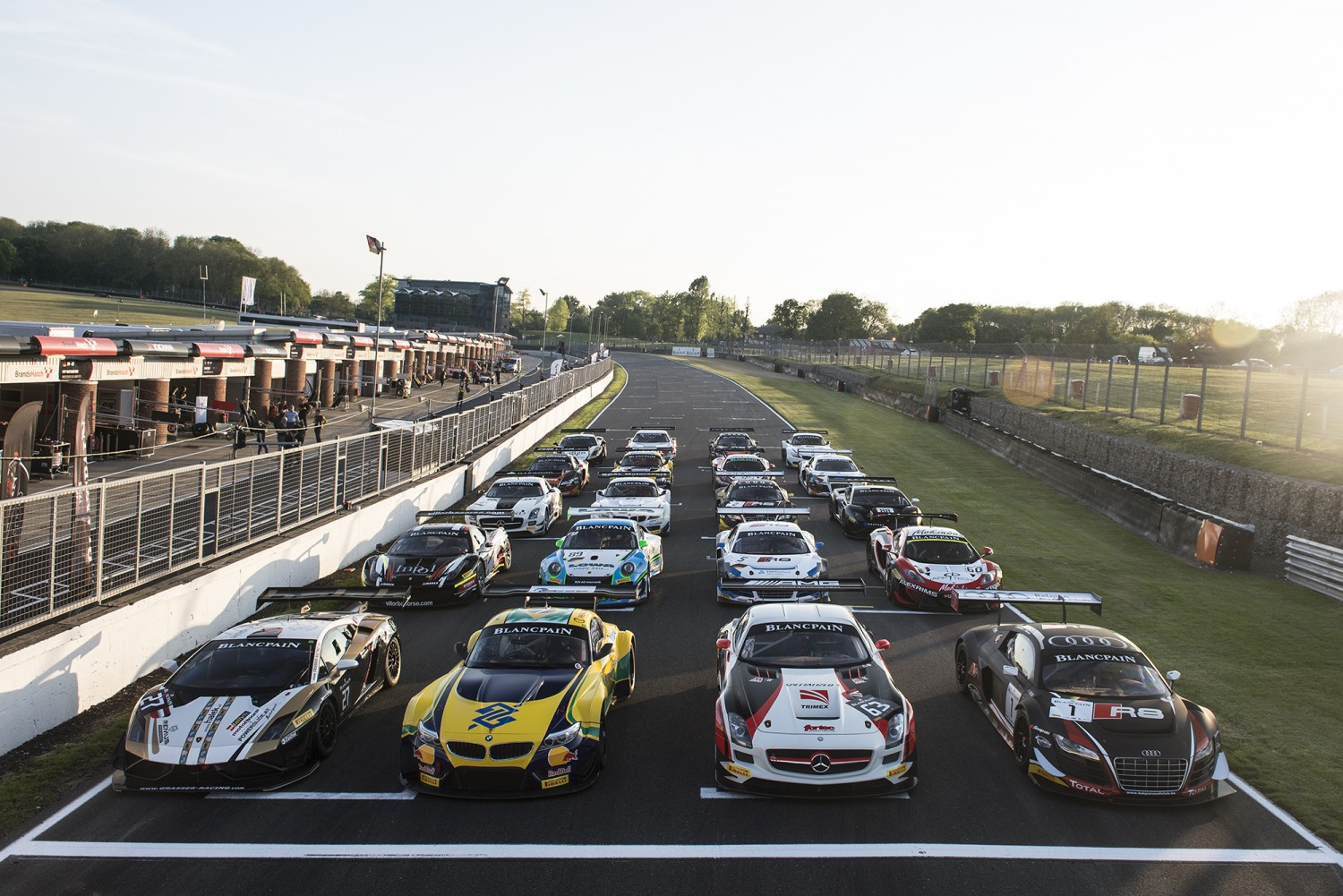 The Blancpain Sprint Series ready for Brands Hatch