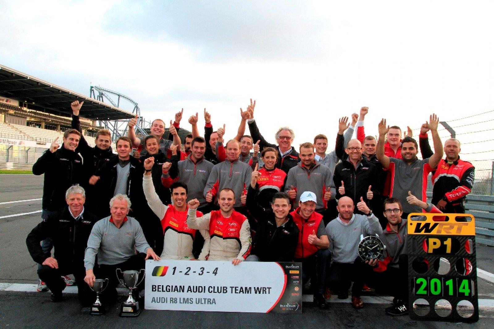 """Belgian Audi Club Team WRT crowned RACB """"Team of the Year"""""""