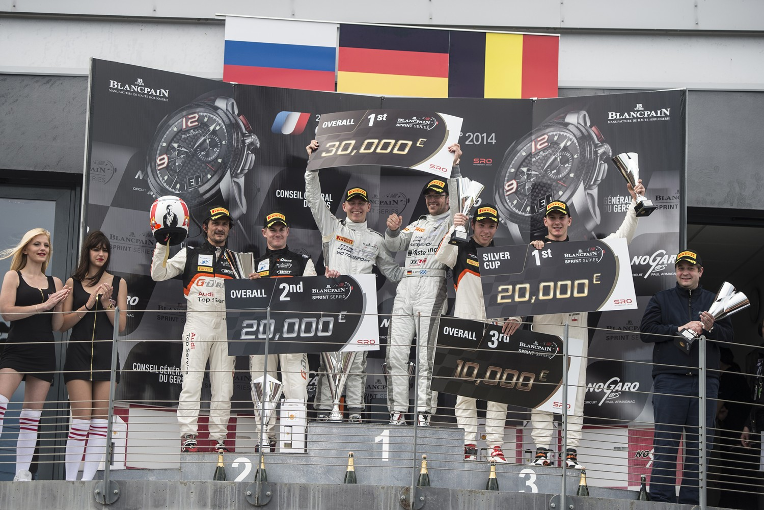 NOGARO  - Impressive win by Mercedes-duo Götz and Buhk in opening round of the 2014 Blancpain Sprint Series