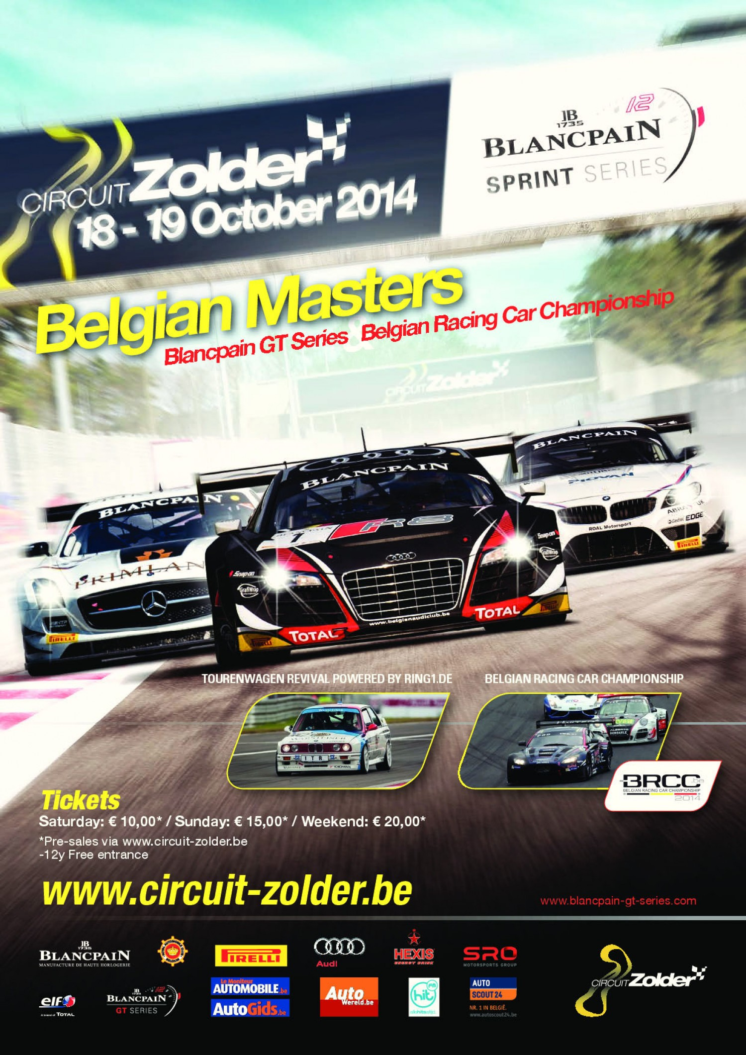 Tickets sales for the Blancpain Sprint Series at Zolder are on line!