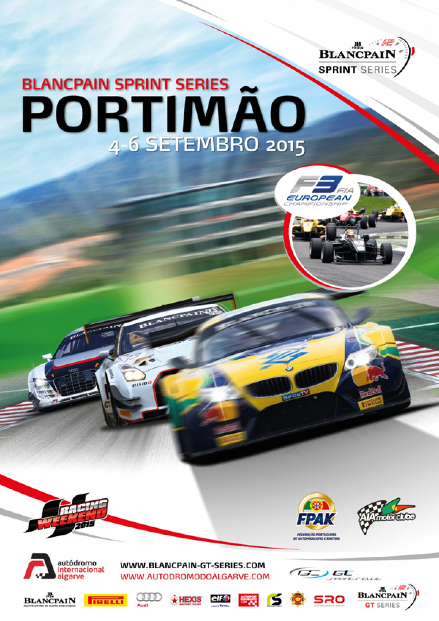 The fifth round of the Blancpain Sprint Series will be held at the Autódromo Internacional do Algarve