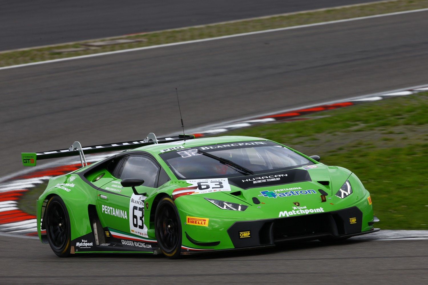 Mirko Bortolotti puts Lamborghini on pole for season finale