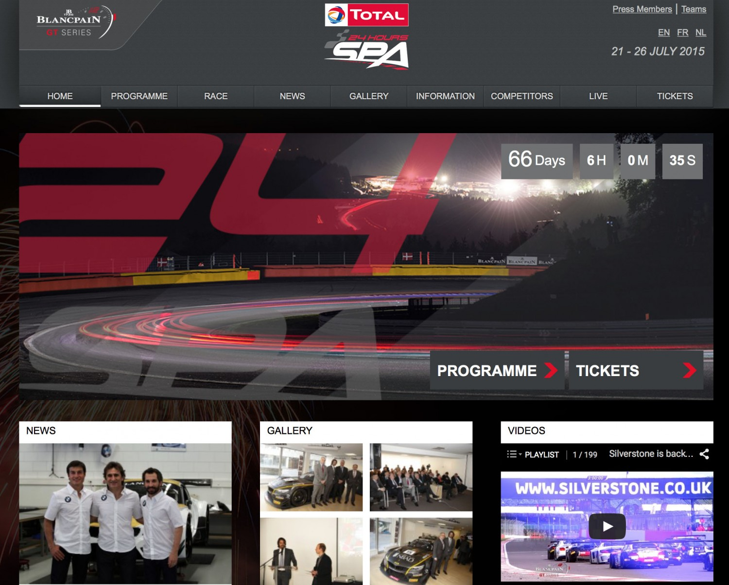 New website Total 24 Hours of Spa now online