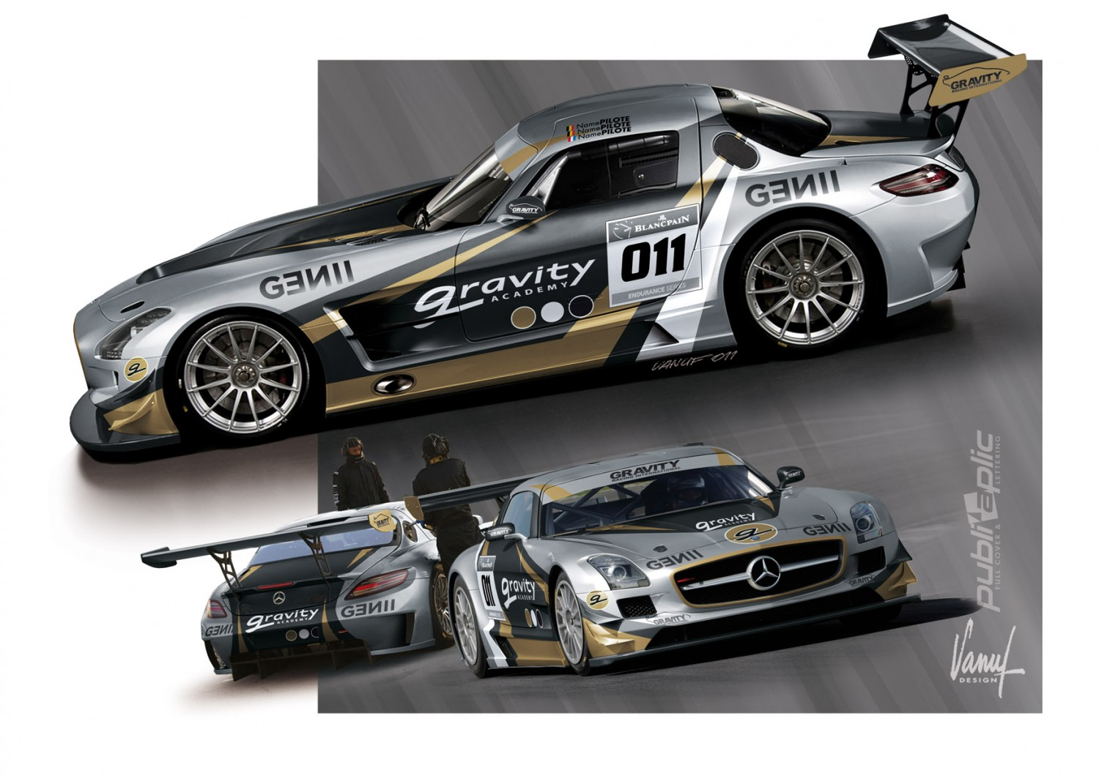 Mercedes SLS GT3 Gravity Racing for sale