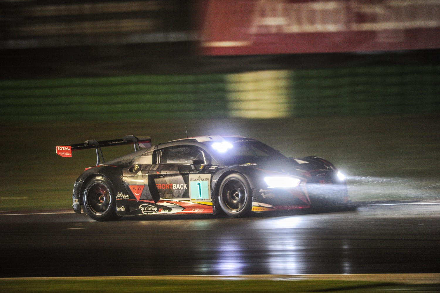 Laurens Vanthoor and Audi fastest on a very wet Misano World Circuit