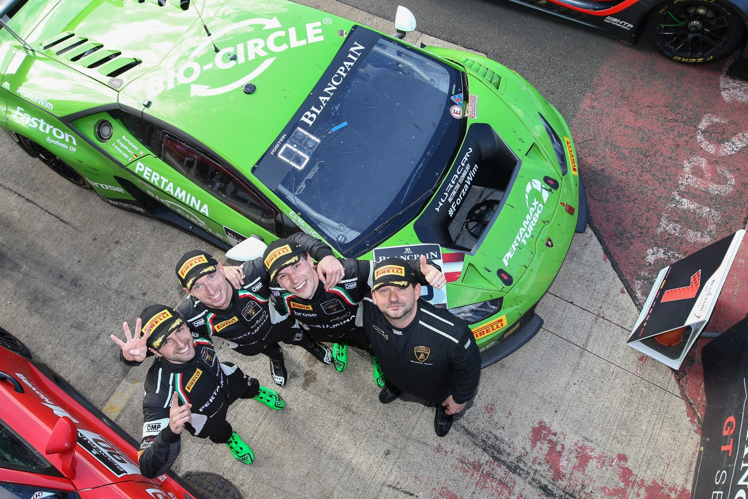 GRT Grasser Racing Team's Lamborghini claims nail-biting 3 Hours of Silverstone