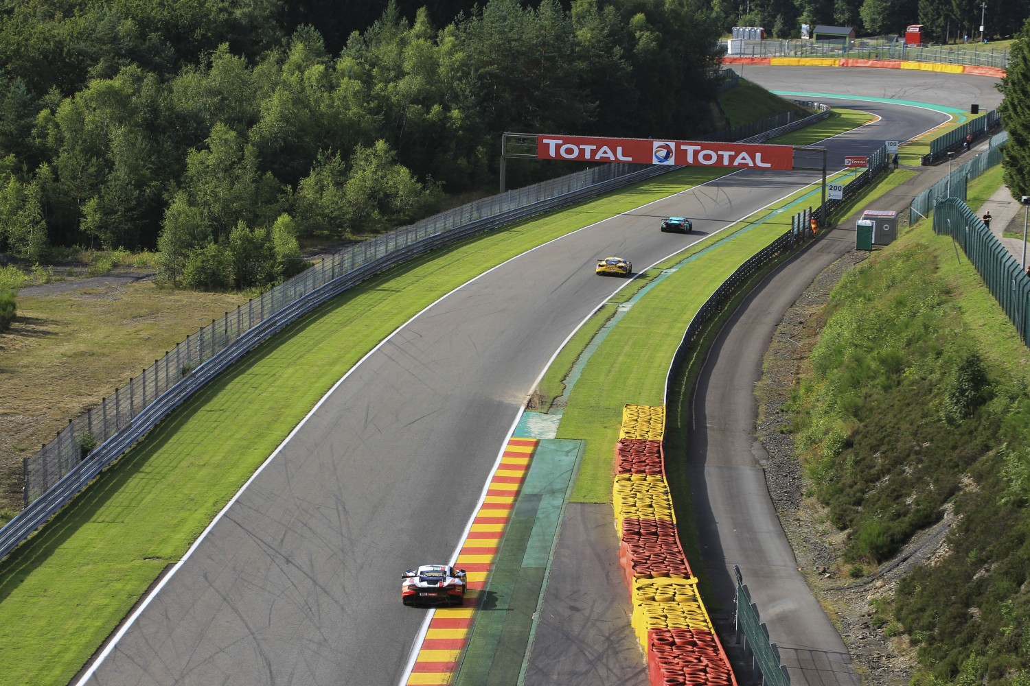 Well over 60 cars on track during Official Test Day for Total 24 Hours of Spa