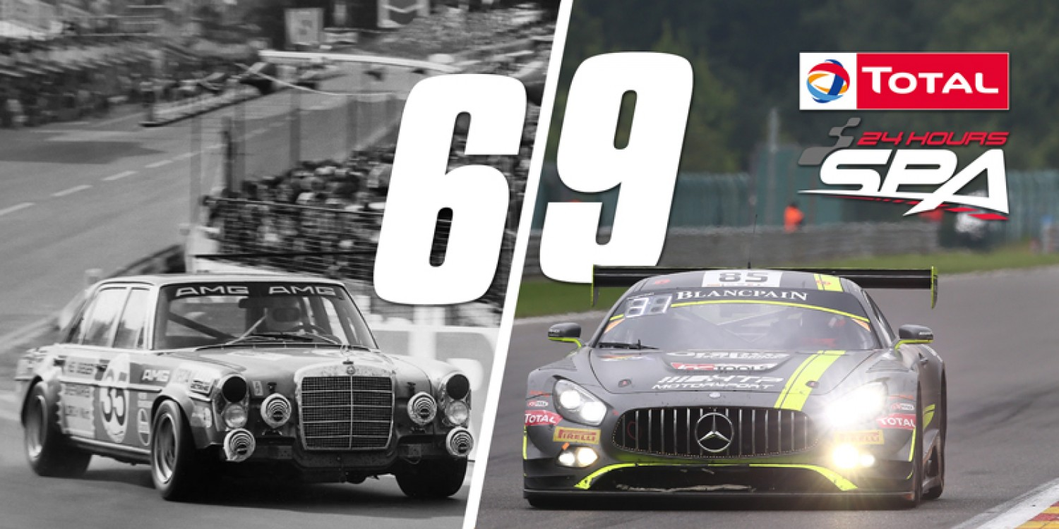 69 days to the start of the 69th edition of the Total 24 Hours of Spa!
