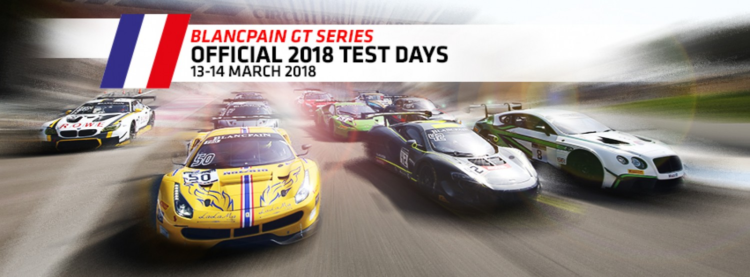 Blancpain GT Series contenders ready to launch 2018 season at Official Test Days