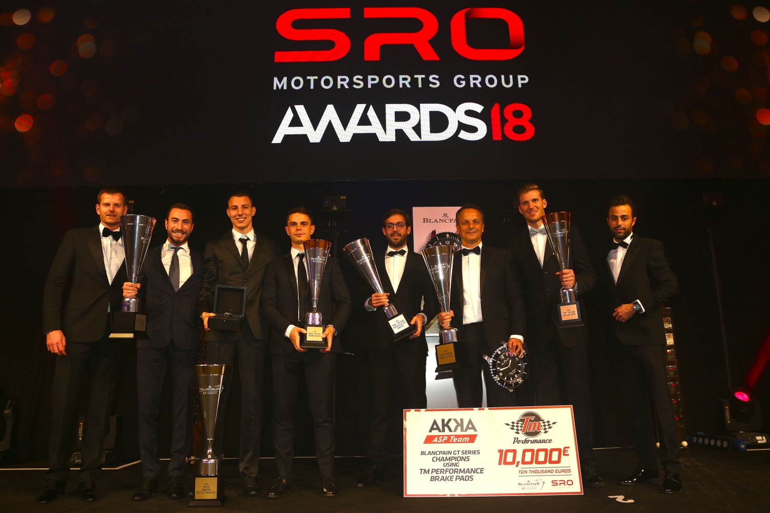 Champions of 2018 crowned in London at spectacular SRO Motorsports Group awards ceremony