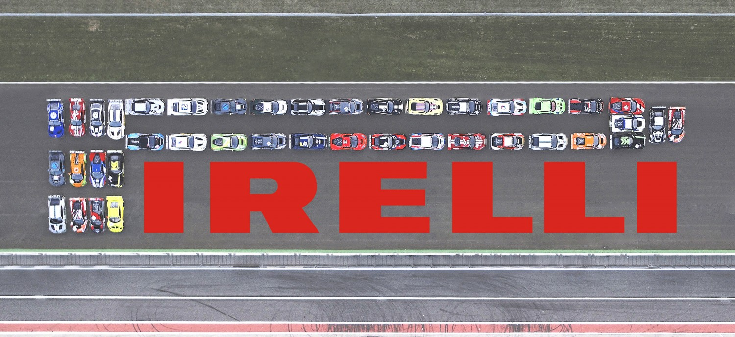 PIRELLI recreates its world-famous logo using more than 40 GT3 cars at Monza