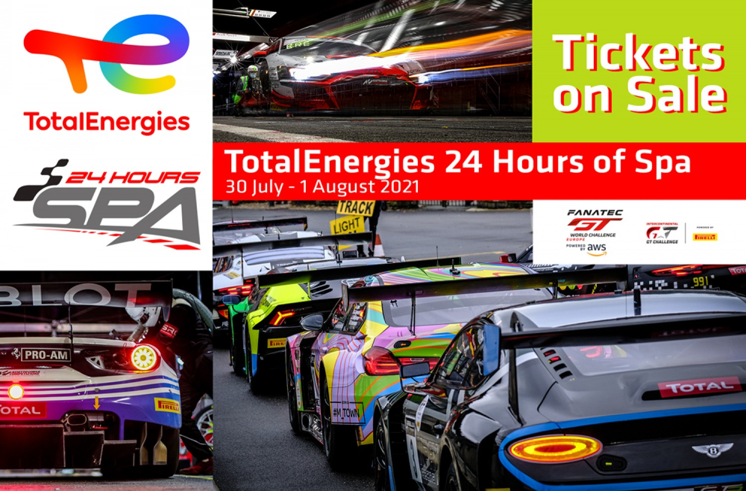 Tickets on sale now for 2021 TotalEnergies 24 Hours of Spa