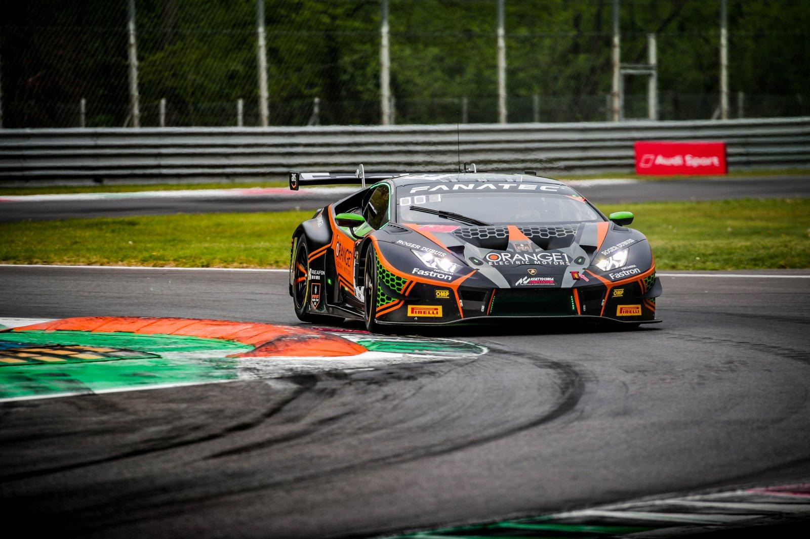 Orange1 FFF Racing puts #63 Lamborghini on pole after titanic Monza qualifying battle