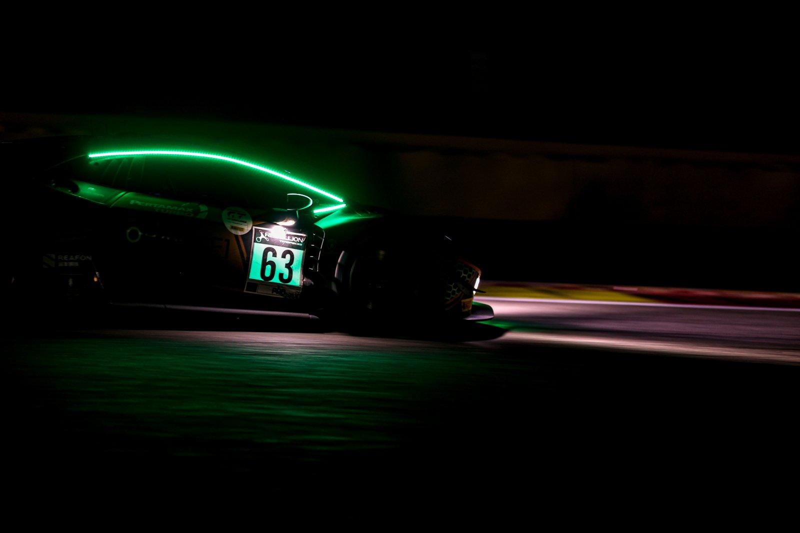 Nothing between Orange1 FFF Racing Lamborghini and Audi Sport Team WRT at the 10-hour mark