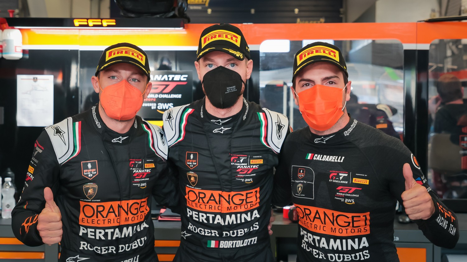 Orange1 FFF Racing bags third overall pole from four races with #63 Lamborghini