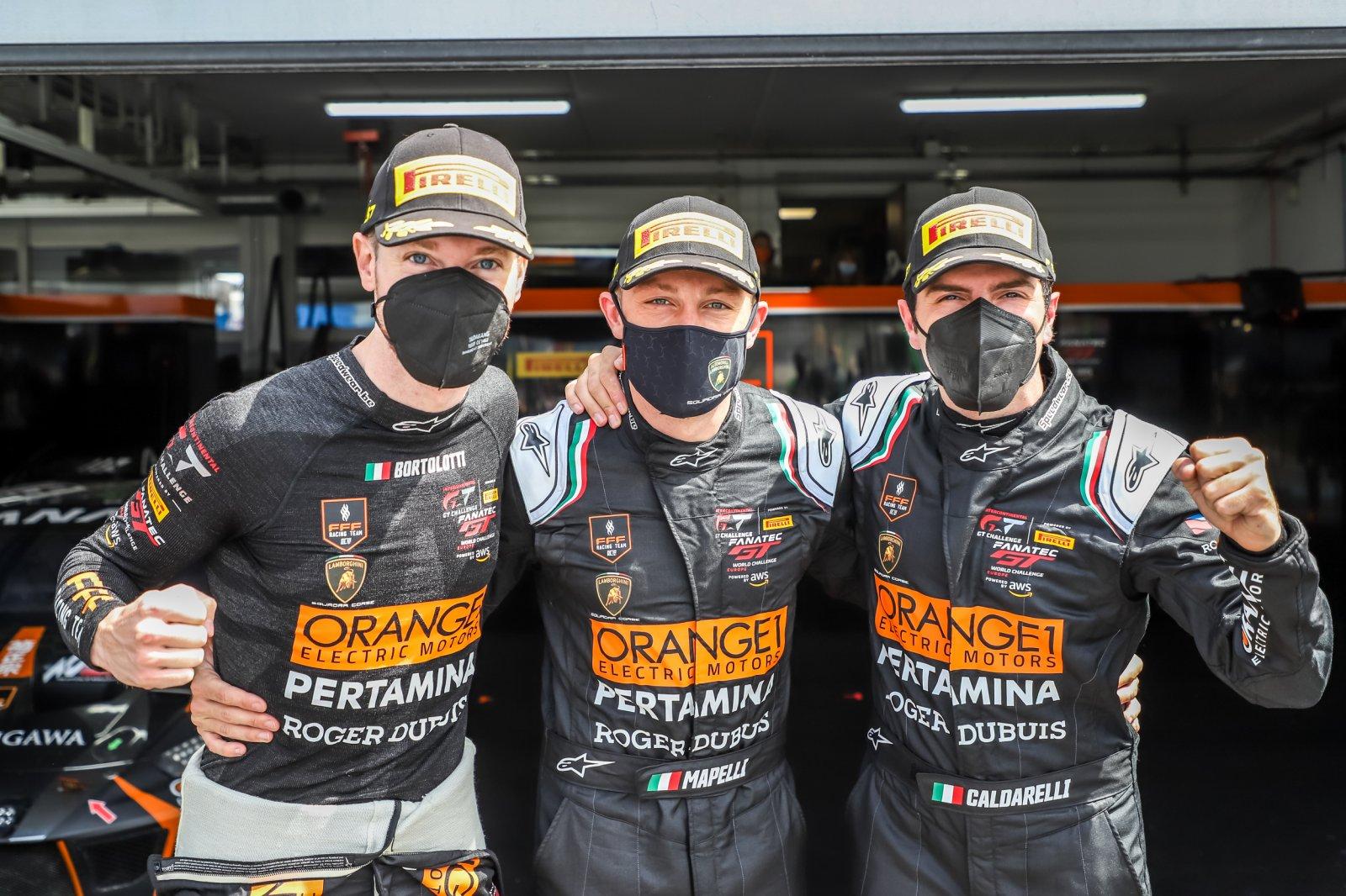 Orange1 FFF Racing Lamborghini on top at Circuit Paul Ricard to secure second successive Endurance Cup pole