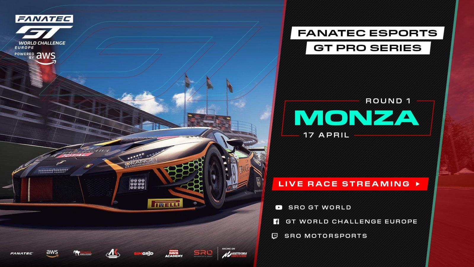 Fanatec Esports GT Pro Series heralds new era for sim racing at Monza