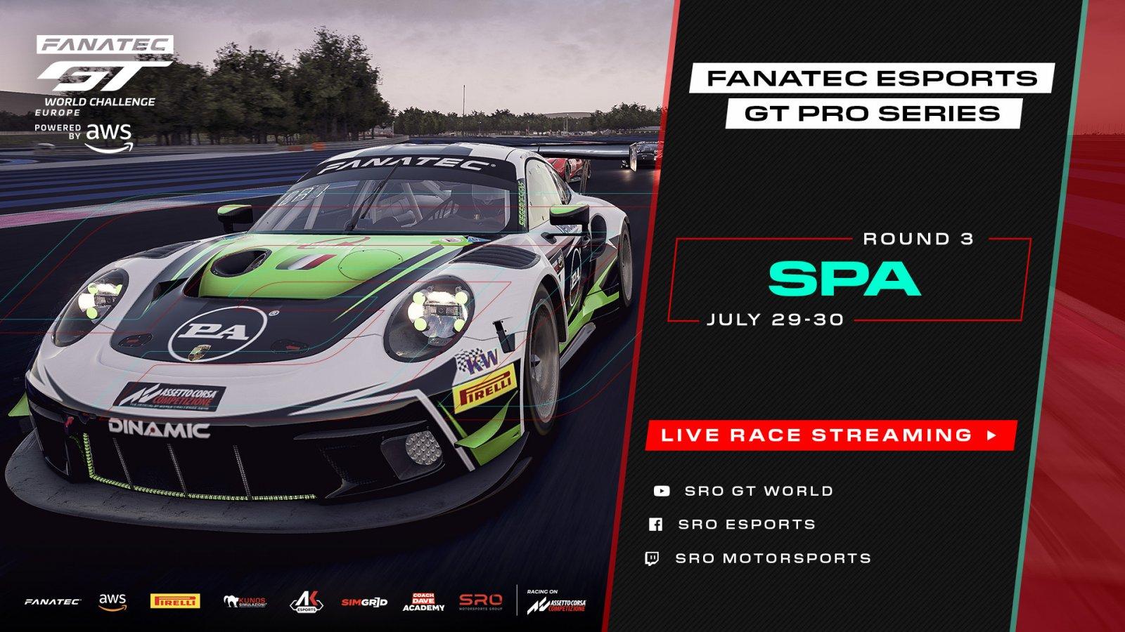 Fanatec Esports GT Pro Series checks in for Spa break