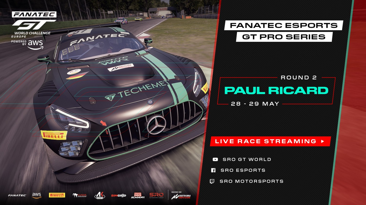 Circuit Paul Ricard set for R2 of Fanatec Esports GT Pro Series