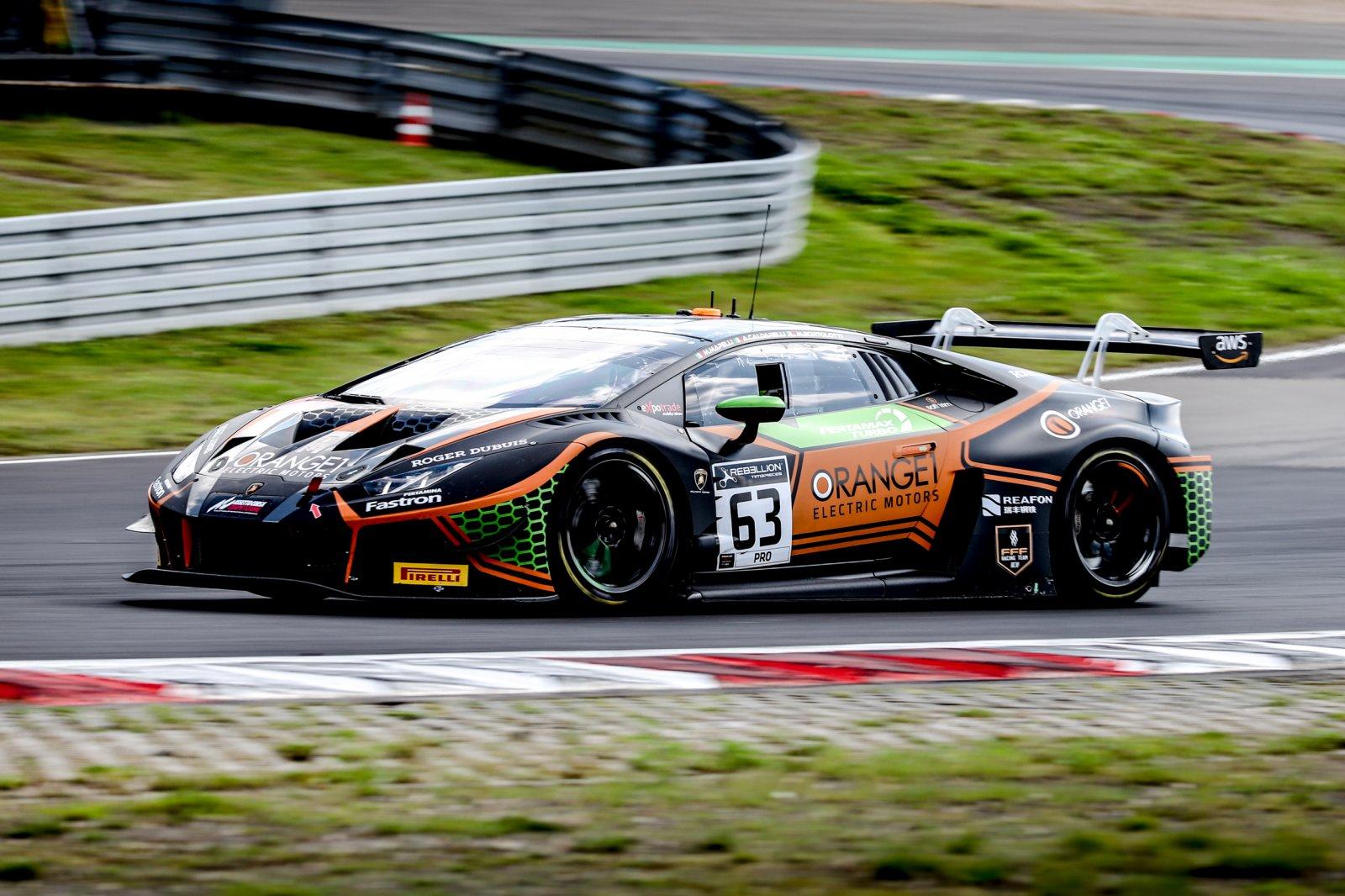 Orange1 FFF Racing Lamborghini loses overall pole for Endurance Cup finale