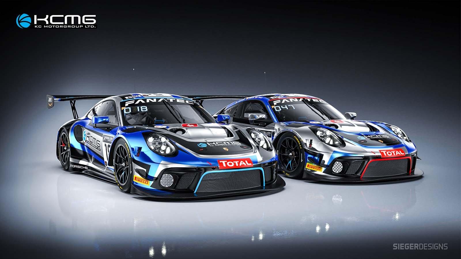 Martin/Vanthoor/Tandy headline two-car KCMG Porsche effort
