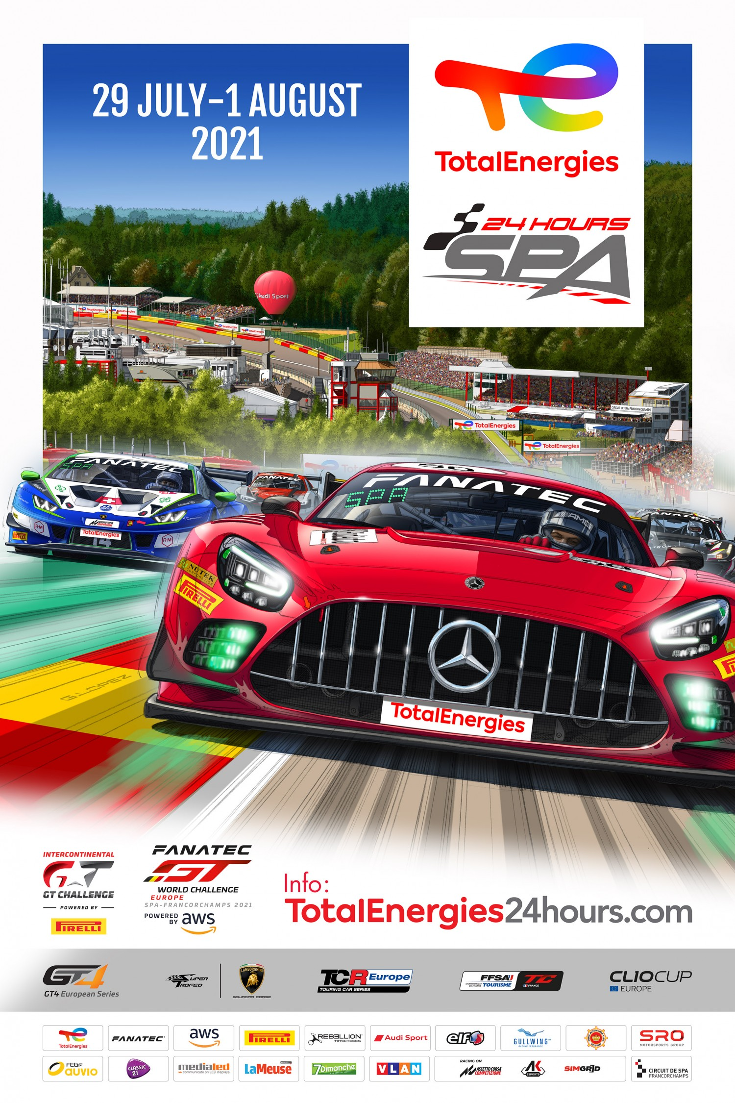 TotalEnergies 24 Hours of Spa launches official poster and timetable, confirms fans will attend