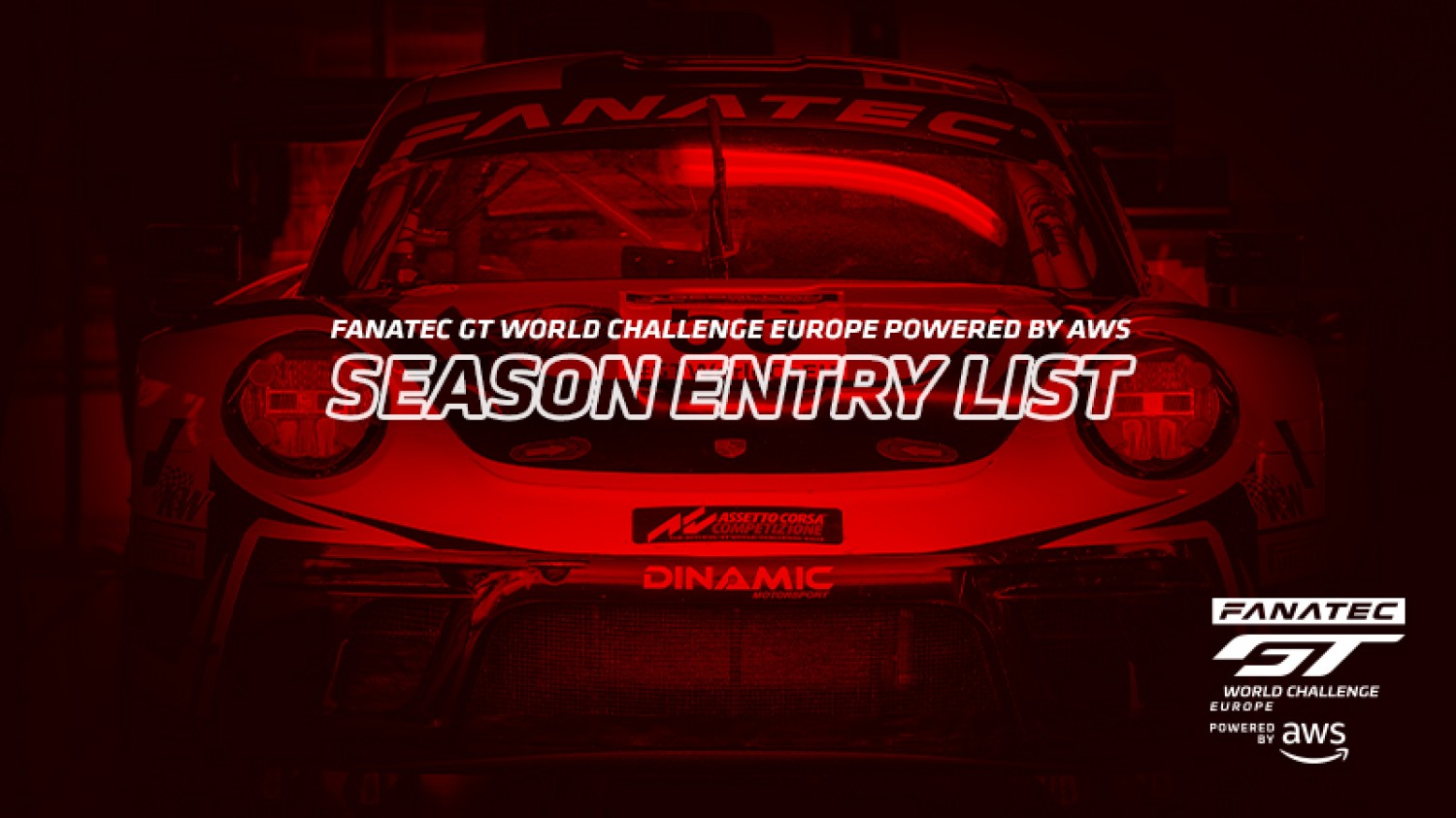 Expanded Sprint Cup and full-season grids confirmed for Fanatec GT World Challenge Europe Powered by AWS