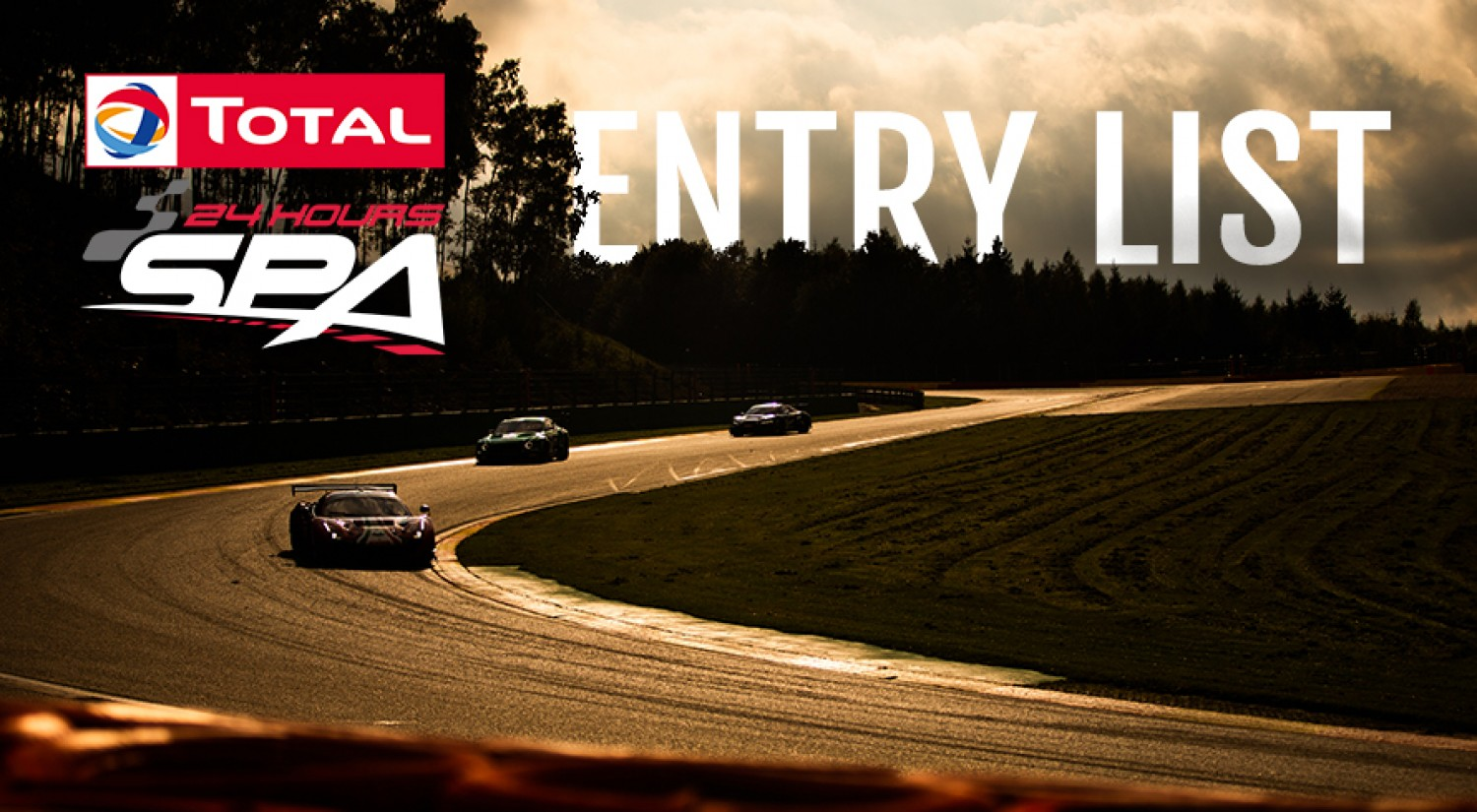 Total 24 Hours of Spa presents 56-car entry list for upcoming autumn edition