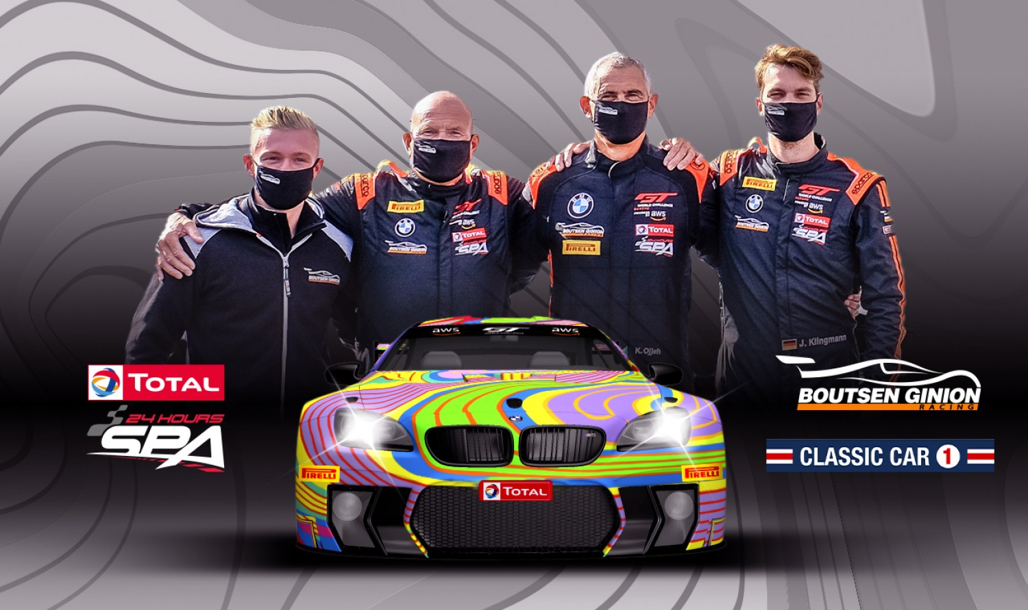 "Boutsen Ginion Racing confirms full driver line-up for Total 24 Hours of Spa ""art car"" project"