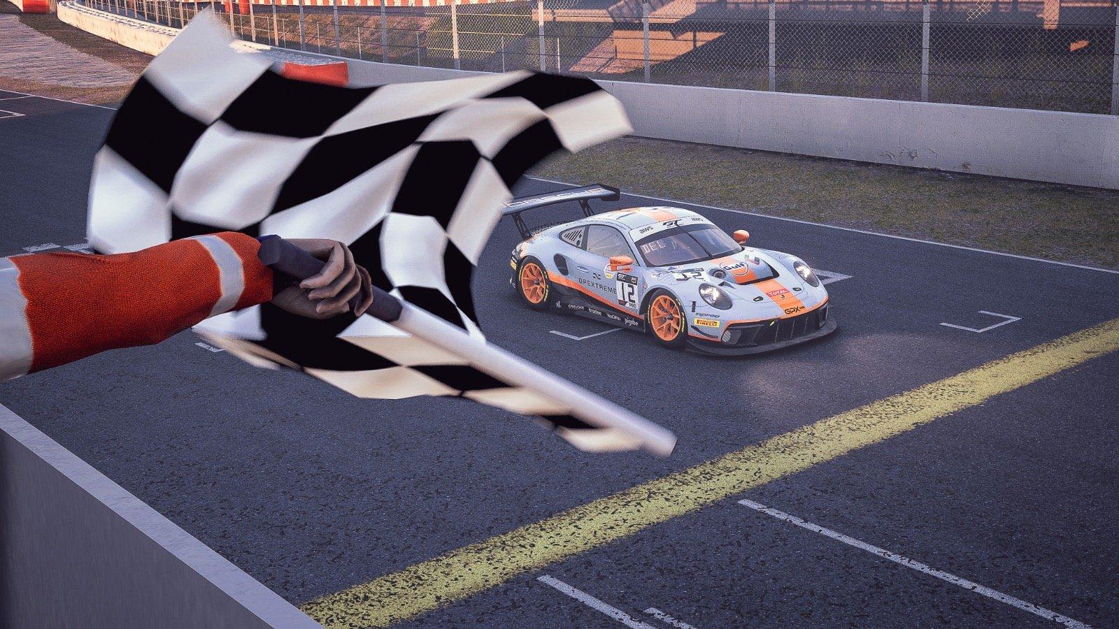 Deletraz captures Pro win for Porsche, Kammerer leads McLaren Silver sweep as SRO E-Sport GT Series tackles Barcelona