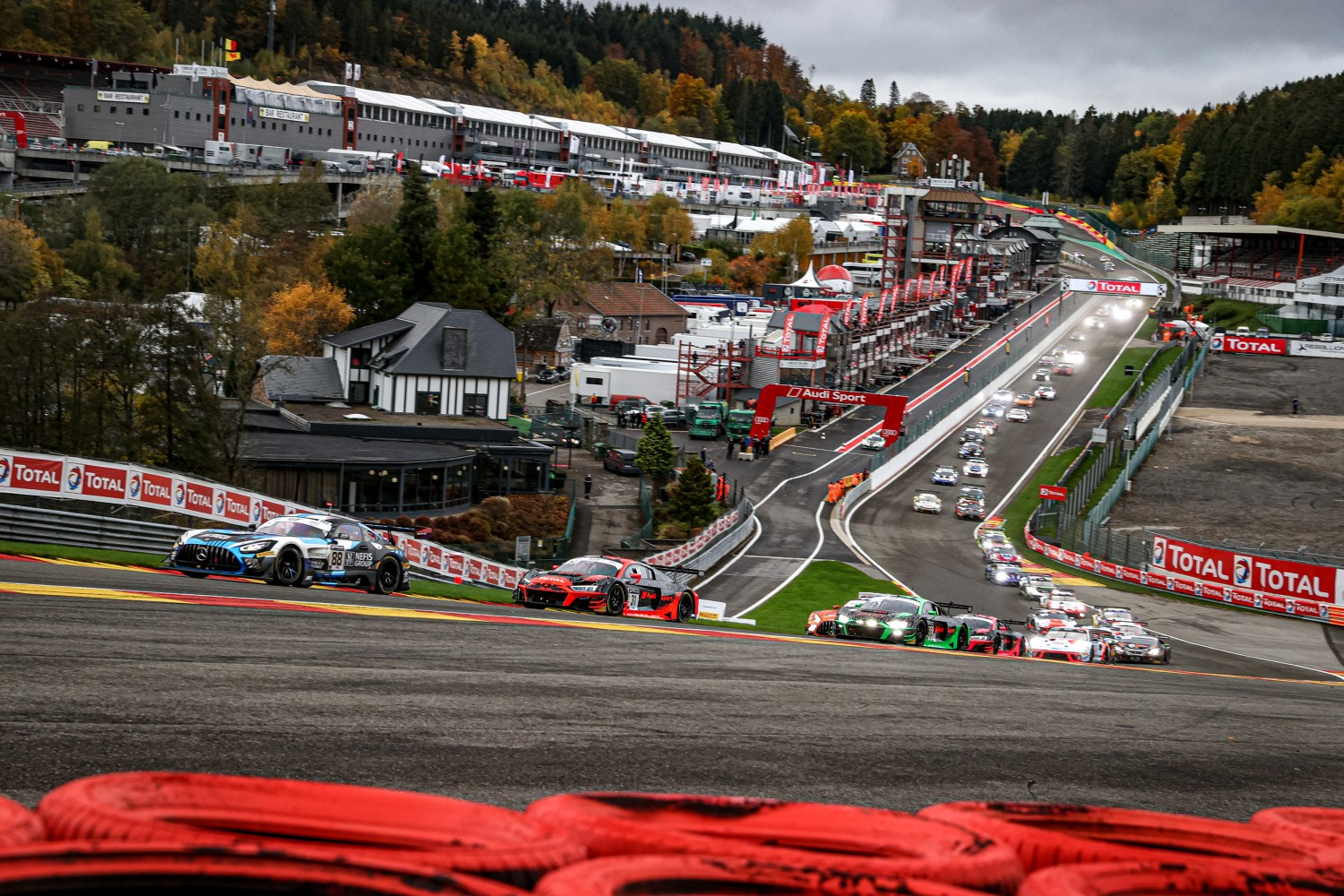 1-Hour Update: Marciello leads Total 24 Hours of Spa for Mercedes-AMG Team AKKA ASP