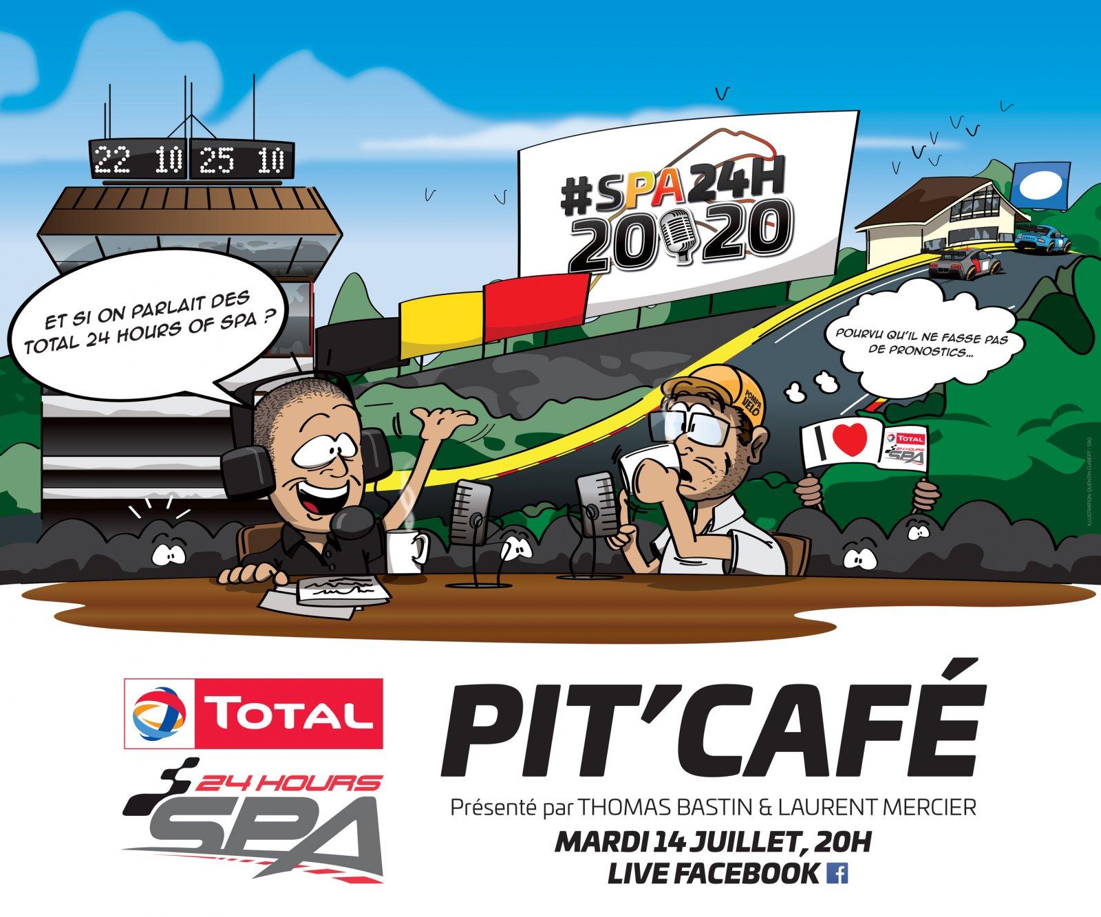 Le #SPA24H Pit'Café, votre nouveau rendez-vous avant les Total 24 Hours of Spa