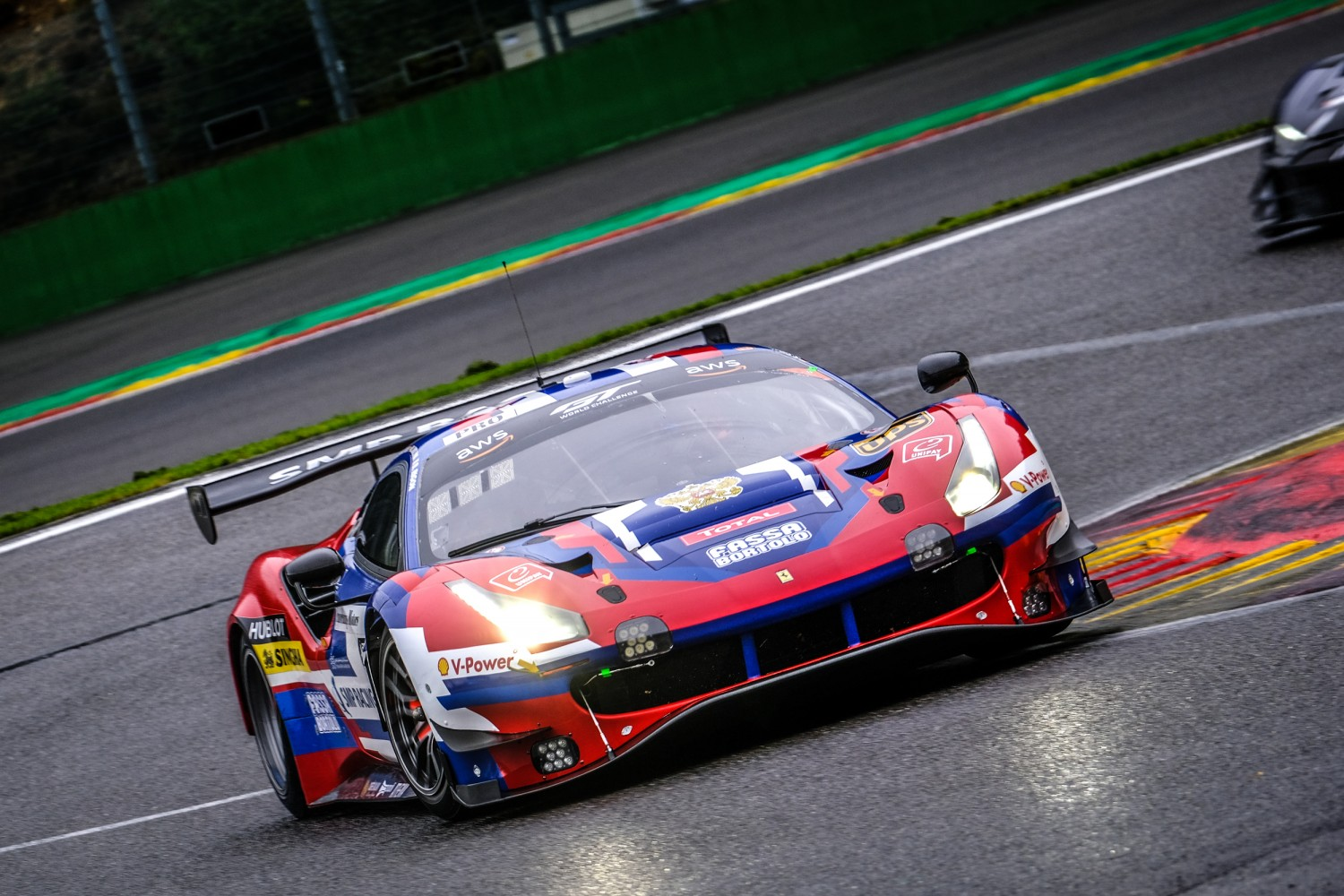 SMP Ferrari leads the way in Wednesday morning test at Spa