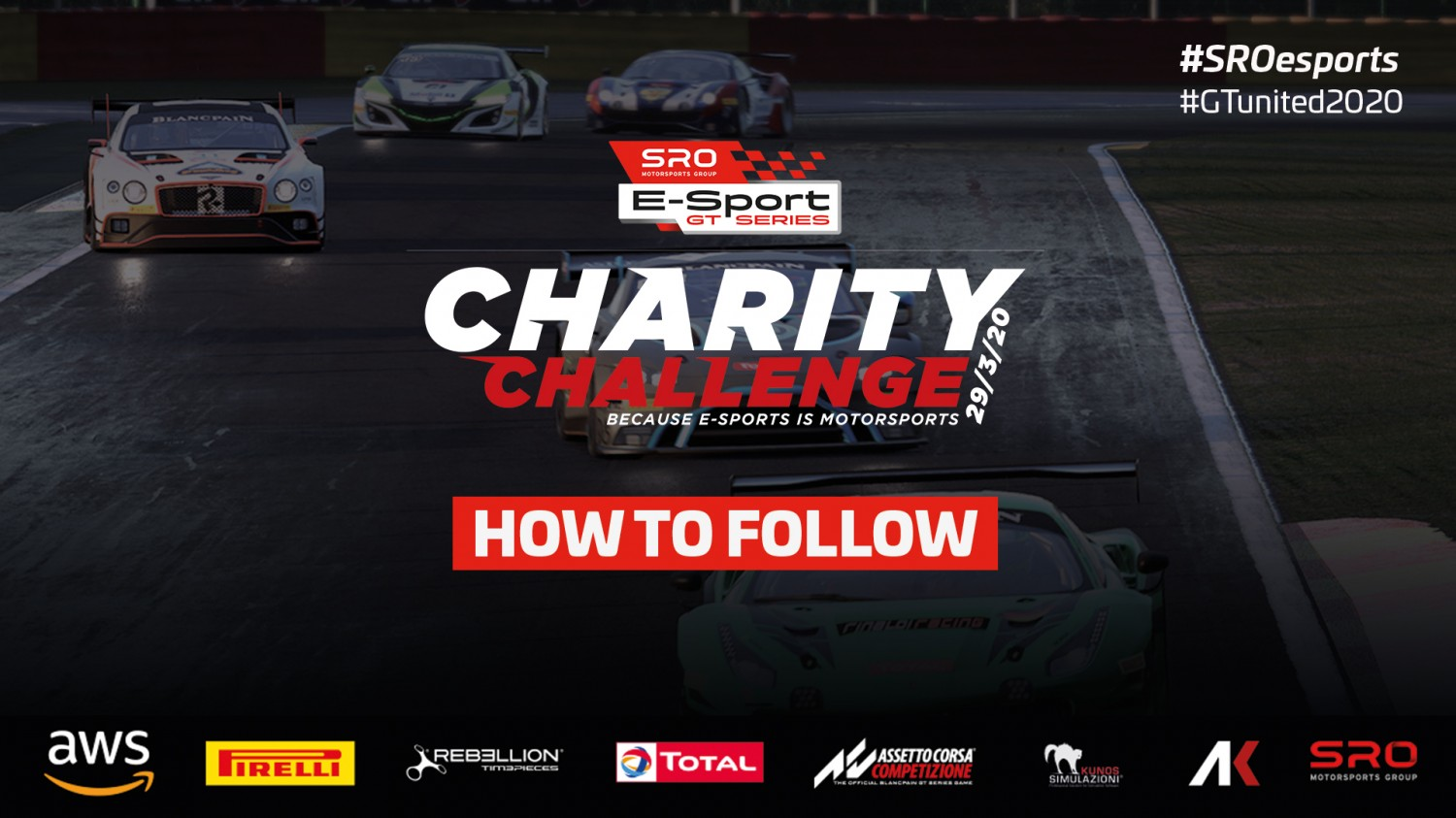 Extensive broadcast details and commentary line-up revealed for SRO E-Sport GT Series Charity Challenge