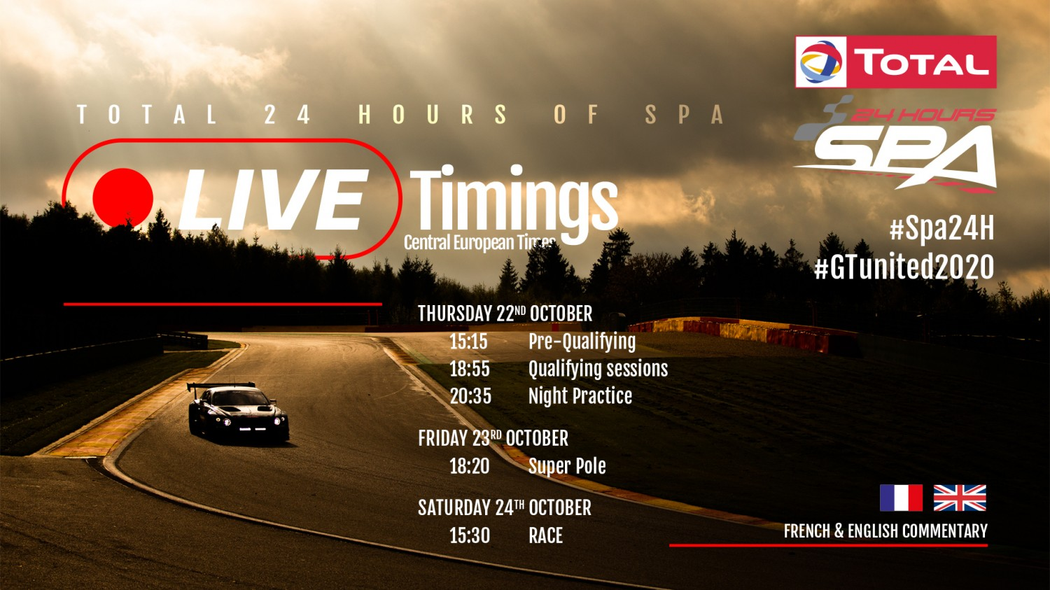 Extensive online and TV coverage takes 2020 Total 24 Hours of Spa to the world