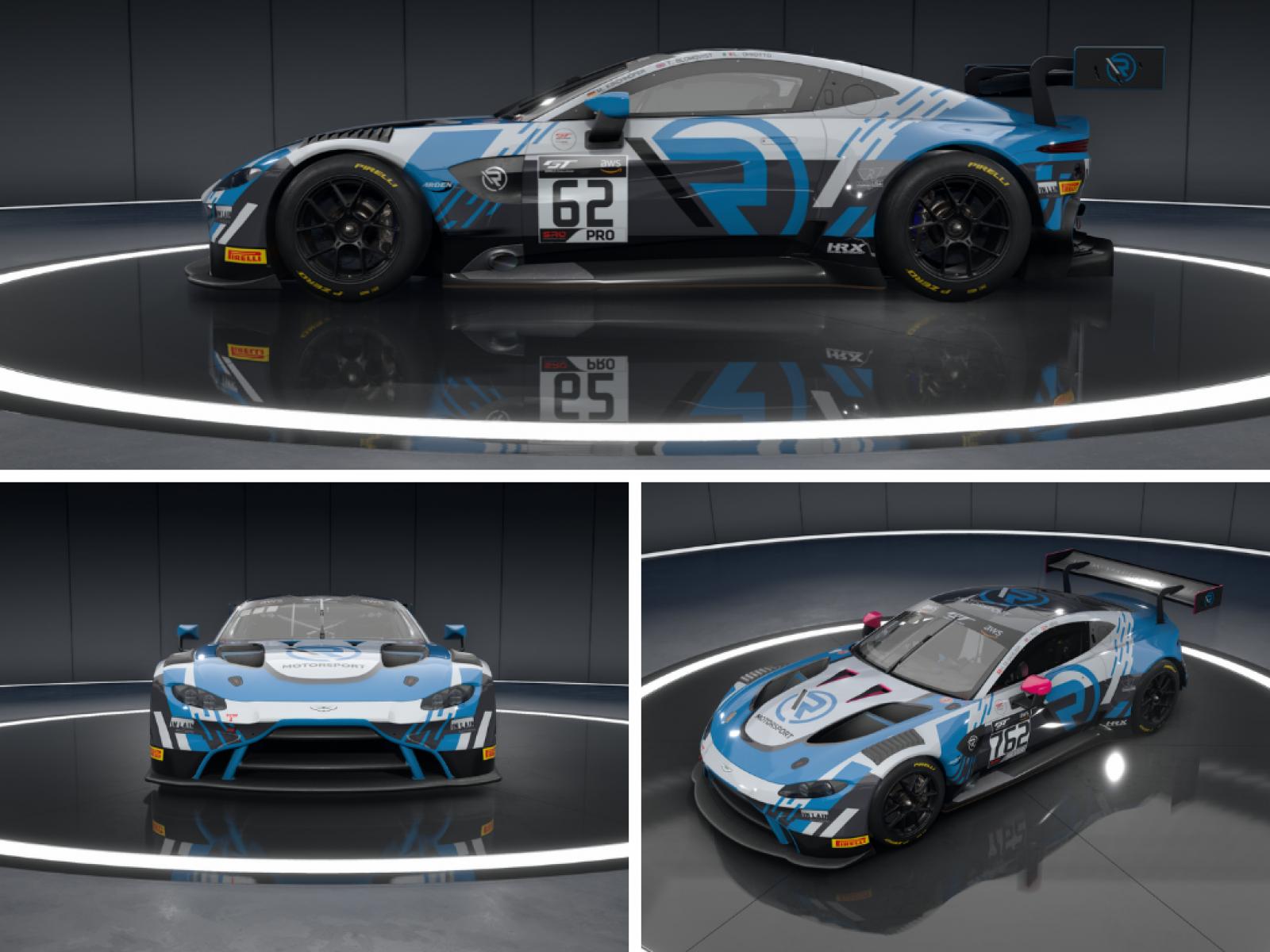 R Motorsport Reveals Aston Martin Livery For Sro E Sport Championship Assault Fanatec Gt World Challenge Europe Powered By Aws